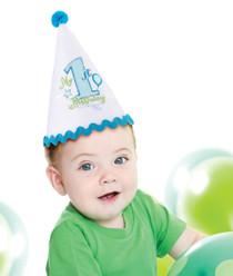 First Birthday Cap Blue