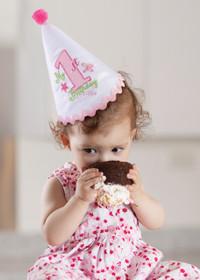 First Birthday Cap Pink