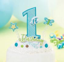 1st Birthday Cake top Blue