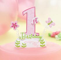 1st Birthday Cake top Pink