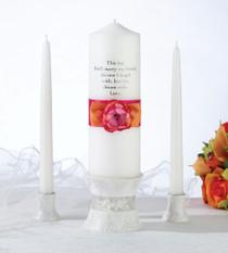 Hot Pink Orange Candle Set