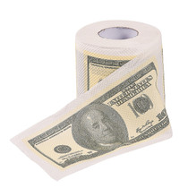 Pack of 3 100 Dollar Bill Toilet Paper