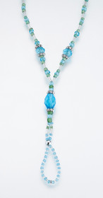 Set of 2 Bead Foot Jewellery Aqua