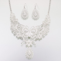 Butterfly Jewellery Set Silver