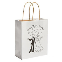12 x Happy Couple Kraft Bags