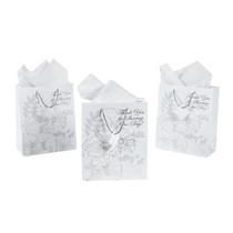 12 x Paper Medium Glitter Gift Bags