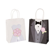 12 x Medium Bride And Groom Craft Bags