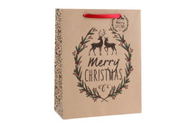 Large Craft Paper 'Merry Christmas' Gift Bag