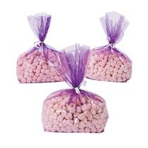 12 x Purple Cellophane Goody Bags