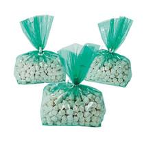 12 x Green Cellophane Goody Bags