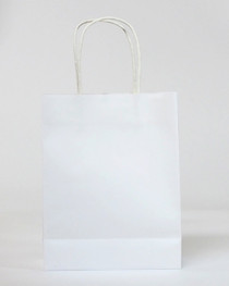 15 x White Party Bags with handle
