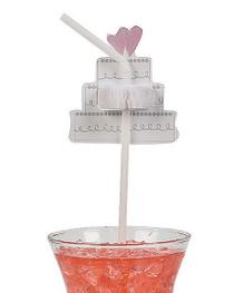 Tissue Wedding Cake Straws 24 Straws