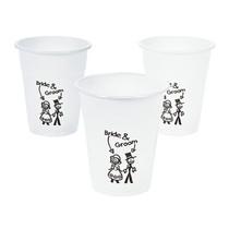 50 x Plastic Happy Couple Disposable Cups