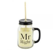 Mr. Right Mason Jar