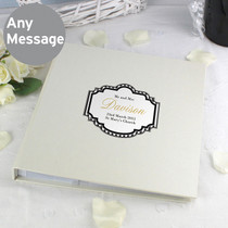 Personalised Art Deco Striped Album with Sleeves