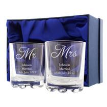 Personalised Mr & Mrs Pair of Tumblers