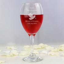 Personalised Designer Hats Wine Glass