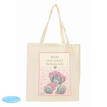 Personalised Me To You Girls Wedding Cotton Bag