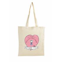 Personalised Purple Ronnie Female Wedding Cotton Bag