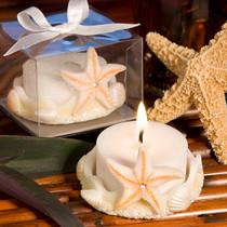 Starfish Design Favour Saver Candles