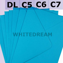 Kingfisher Blue Envelopes - C7, C6, C5, DL, 5'x7' Sizes