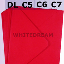 Poppy Red Envelopes - C7, C6, C5, DL, 5'x7' Sizes