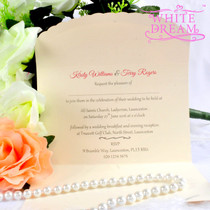 Personalised Elegant Pink Wedding Invitations