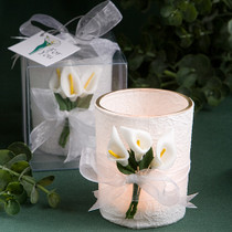 Stunning Calla Lily Design Candle Favours
