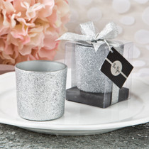 Bling Collection Silver Glitter Candle Votive