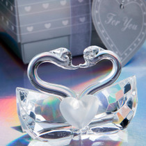Choice Crystal Collection Kissing Swans