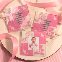 Baby Girl Glass Photo Coasters