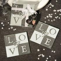 Love Glass Coasters Set of