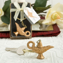 Gold Magic Lantern Key Chain From White Dream