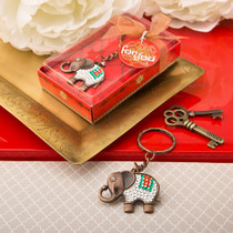 Exotic Indian Elephant Copper Key Chain From White Dream