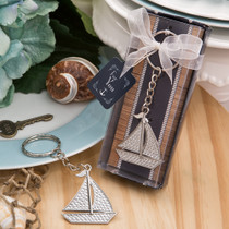 Nautical Themed Silver Sailboat Key Chain From White Dream