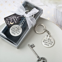 I Love You To The Moon And Back Silver Metal Key Chain