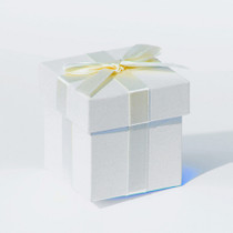 6 x Ivory Pearlised Box With Ivory Ribbon And Tissue Paper