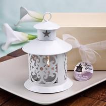 Fabulous White Metal Lantern Favour
