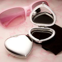 Heart Shaped Compact Mirror Favours