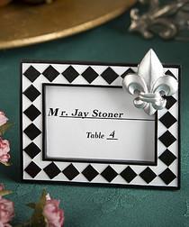 Splendid Fleur De Lis Design Place Card Photo Frame Favours