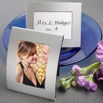 Matte Silver Metal Place Card Photo Frames
