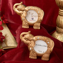 Good Luck Gold Indian Elephant Picture Frame From White Dream