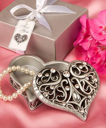 Exquisite Heart Shaped Curio Trinket Box