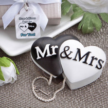 Mr. And Mrs. interlocking Hearts Trinket Box Favours