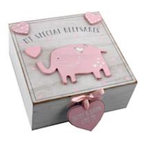 Petit Cheri' MDF My Special Keepsake Box 16cm x 16cm Pink