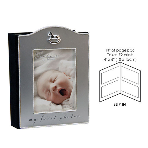 Bambino By Juliana Silver Plated Photo Album With Icon My First Photos