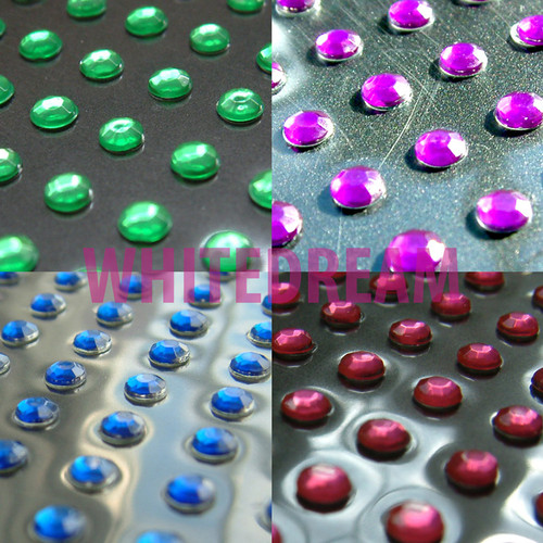 6mm - Self Adhesive Diamante Gems (Round)