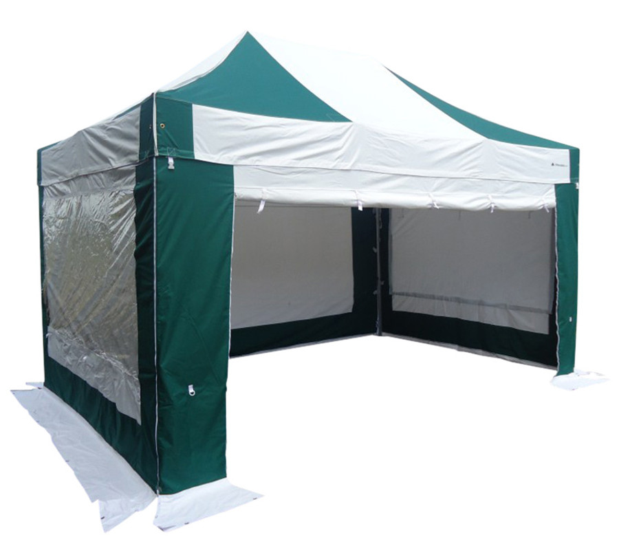 S50 3x4.5 commercial aluminium green & white heavy duty pop up gazebo