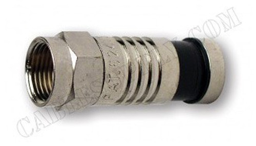 RG6 F Type Coaxial Connector Nickel Plate by Platinum Tools
