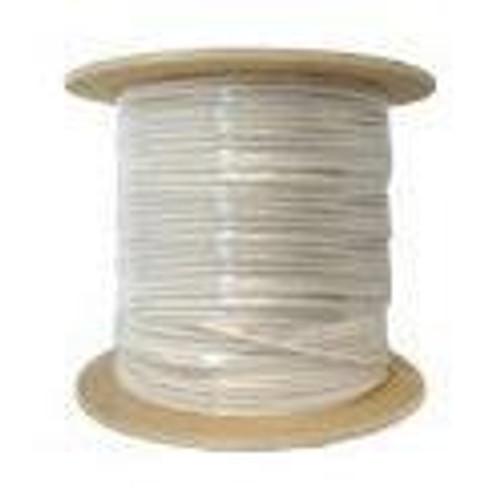 RG59 Coaxial Cable CMP/Plenum 1000ft White Siamese Bulk Cable